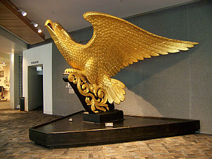 USS Lancaster (1858) - Lancaster's eagle figurehead, now at the Mariners' Museum.