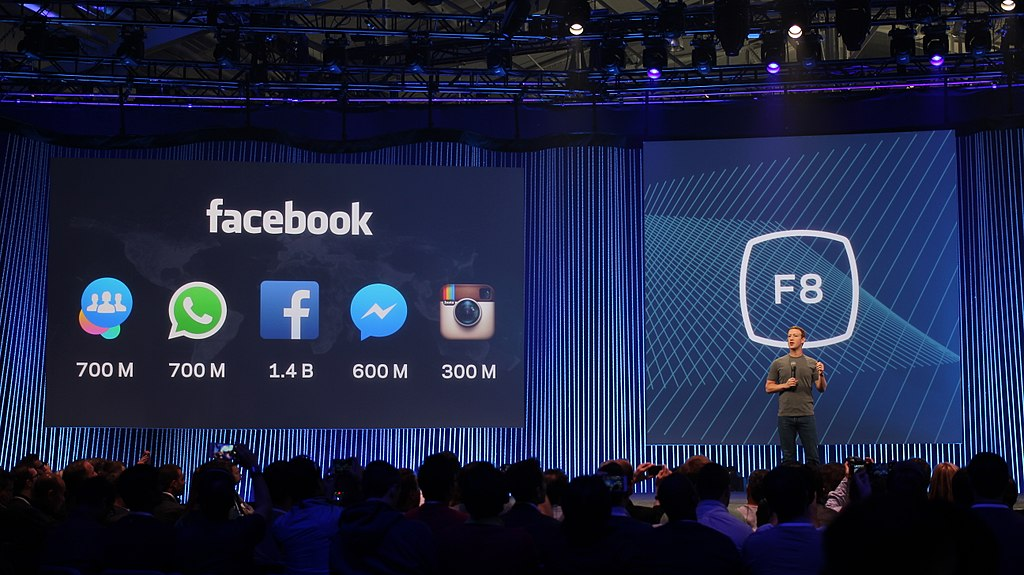 Mark Zuckerberg on stage at Facebook's F8 Developers Conference 2015 (16908770206)