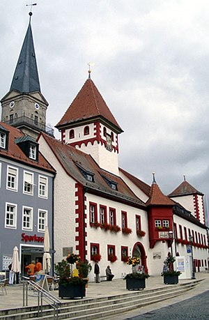Marktredwitz - Old town hall and church