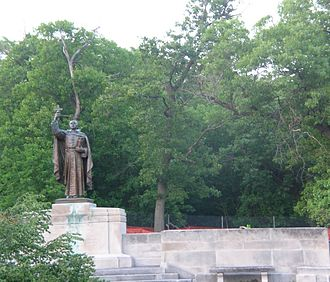 Henry Hering - Hering's Pere Marquette statue in Marquette Park, Gary