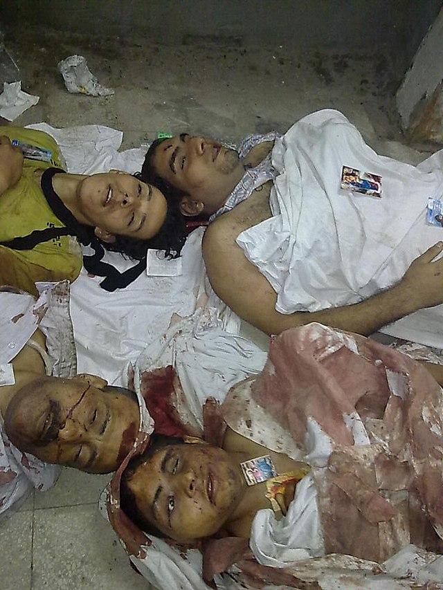 جثث الاقباط في المستشفى القبطي