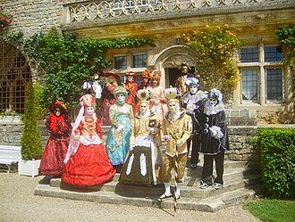 Masquerade ball - Masquerade ball at Château de Hattonchâtel, France.