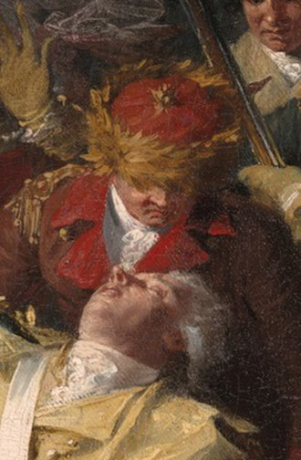 Matthias Ogden - Detail from a painting by John Trumbull depicting Ogden (in red uniform) and Gen. Richard Montgomery