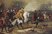 Maurits (1567-1625), prins van Oranje, in de slag bij Nieuwpoort (1600)