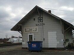 The former Santa Fe station in Mazon