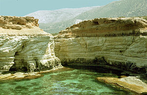 Rocky coast of sea near Darnah, Libya