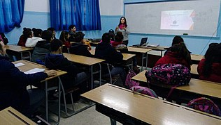 Meeting with Karen Jeppe Armenian College students, Aleppo, Syria. 03.jpg