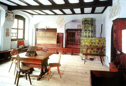 Melanchthonhaus Wittenberg. Blick in die Melanchthonstube -WB