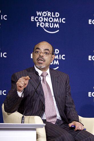 Meles Zenawi - The economics expert Meles Zenawi, being a panelist at World Economic Forum on Africa 2012.