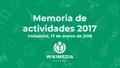 Memoria de actividades de 2017 de Wikimedia España.pdf