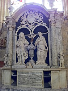 Memorial William Wentworth, 2nd Earl of Strafford and Lady Honoria, in York Minster.jpg
