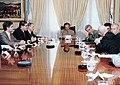 Menem con integrantes de la Sociedad Argentina de Locutores.jpg