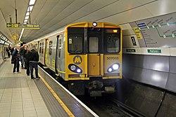 Merseyrail Class 507, 507003, Liverpool Lime Street underground station (geograph 4500645).jpg