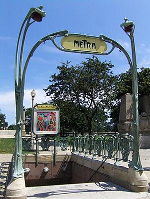 Van Buren Street station - Hector Guimard entrance near Grant Park
