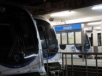 Metro Donostialdea - Trains in Amara Station