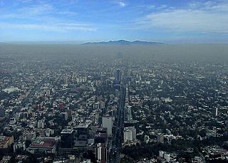 Air pollution in Mexico City Poor quality of air in the capital and largest city of Mexico