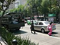 Mexican Army vehicle in Mexico City due to swine flu.jpg