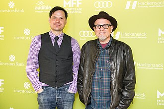 Michael Ian Black - Black and Bobcat Goldthwait at the 2015 Montclair Film Festival