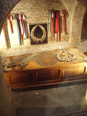 Michiel de Ruyter - De Ruyter's coffin in the Nieuwe Kerk in Amsterdam