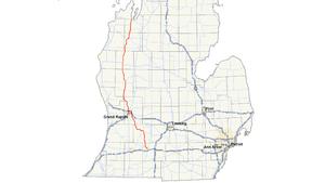M-37 (Michigan highway) - Image: Michigan 37 map