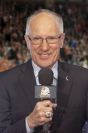 "NBCSN - NBCSN's lead hockey play-by-play announcer Mike ""Doc"" Emrick"
