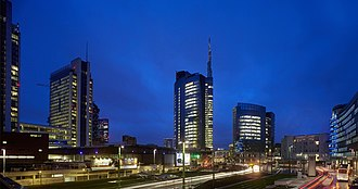 Porta Nuova (Milan) - Unicredit Tower in the Garibaldi area.