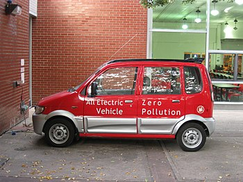 A Miles ZX40 Zero-emissions vehicle at CUNY Qu...