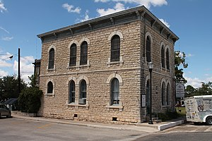National Register of Historic Places listings in Mills County, Texas - Image: Mills Jail 1