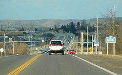 Entering Eureka along State Route 109