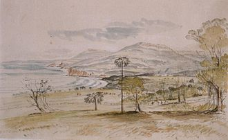Thomas Mitchell (explorer) - The Mitchell house in Stanwell Park, by Henry Grant Lloyd, 1860. (courtesy Mitchell Library)