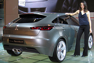Mitsubishi Motors concept cars - Photo of the rear of the Concept Sportback, showing the hatchback rear which is being introduced to the Lancer range in 2009.