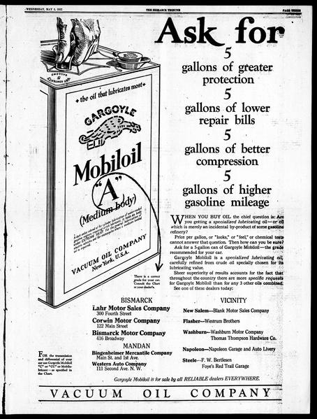 Mobiloil newspaper Gargoyle