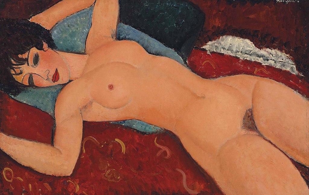 Амедео  Модильяни - «Лежащая обнажённая» (фр. Nu Couché). Частная коллекция