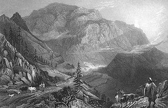 Tons River - Mohuna village, Deobun, Northwest of Landour - 1850s