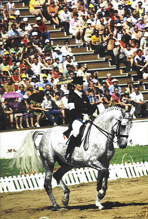 Equestrian at the 1980 Summer Olympics - Individual gold medalist in dressage, Elisabeth Theurer and Mon Cherie