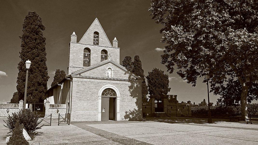 Mondouzil (Haute-Garonne, Midi-Pyrénées, France): L'église Saint-Martial.