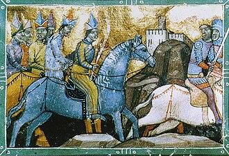 Kadan - The Hungarian King Béla IV on the flight from the Mongols under Qadan.