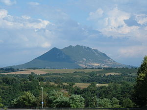 Falisci - View from the general vicinity of Falerii to Monte Soratte on the southern border.