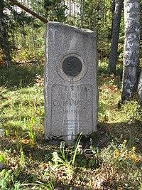 Monument Larin Paraske at the Orthodox cemetery in Palkeala.JPG