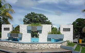 Liberia, Costa Rica - Image: Monument in Parque Mario Cañas Ruiz, Liberia, Costa Rica