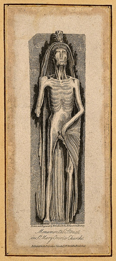 File:Monumental stone figure from St. Mary Overies Church; emacia ...