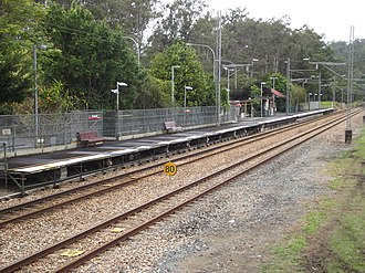 Mooloolah railway station - Southbound view in June 2012