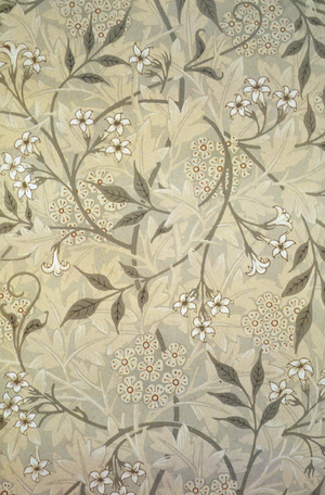 Jasmine block-printed wallpaper designed by Wi...