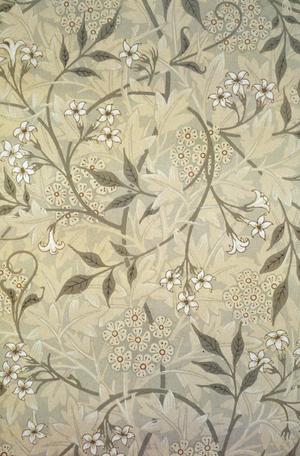 Jasmine block-printed wallpaper designed by Wi...