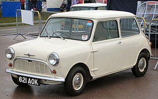Mini British car model made by the British Motor Corporation (BMC) and its successors from 1959 until 2000