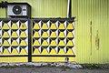 Moscow, Novoostapovskaya Street - yellow garage wall (31243878406).jpg