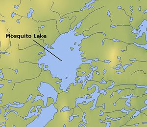 Mosquito Lake (Northwest Territories) - Map