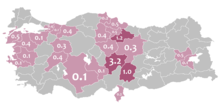 Mother language in 1965 Turkey census - Circassian.png