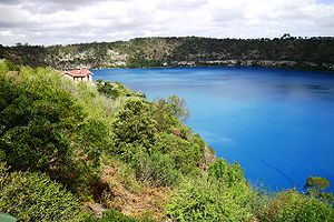 Mount Gambier (volcano) - Image: Mount Gambier Blue Lake