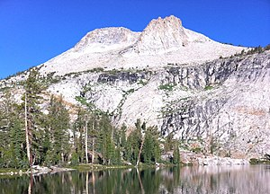 Mount Hoffmann - Mount Hoffmann reflected in May Lake